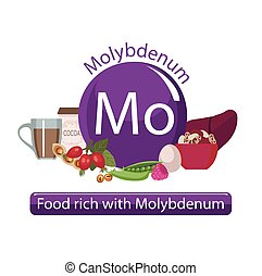 healthy food - Products rich with molybdenum. Bases of...