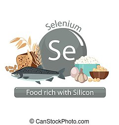healthy food - Products rich with selenium. Bases of healthy...