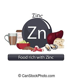 healthy food - Products rich with zinc. Bases of healthy...