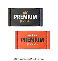 produit, étiquettes, prime