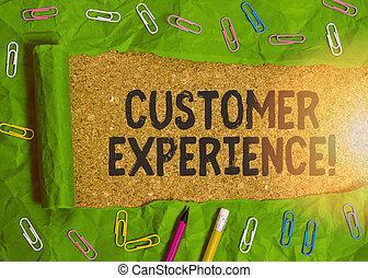 produit, business, main, conceptuel, showcasing, écriture, projection, experience., buyer., photo, client, interaction, entre, organisation