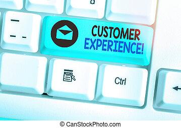 produit, business, showcasing, écriture, note, projection, experience., buyer., photo, client, interaction, entre, organisation