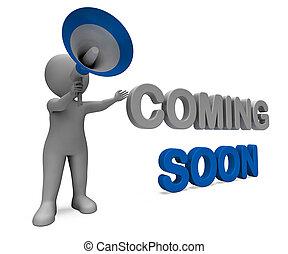produit, caractère, bientôt, arrivées, promotionnel, venir, ...