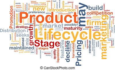 produit, concept, lifecycle, fond