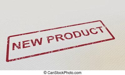 produit, facile, timbre, paper., caoutchouc, mat, mettre,...