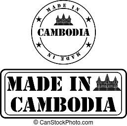 produit, fait, cambodge, étiquetage