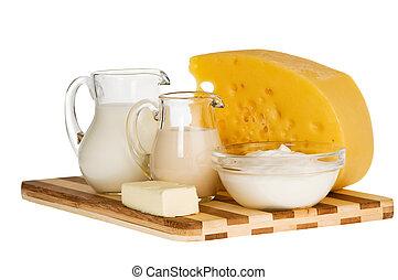 produit, laitage, lait, composition