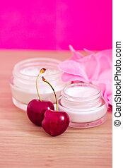 produit, naturel, (cherries), beauté, ingrédients