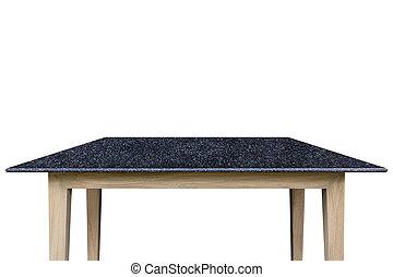 produit, naturel, sommet, pierre, isolé, white., coupure, table, sentier, sauve, exposer, vide