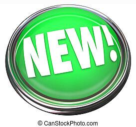 produit, newest, lumière, bouton, mise jour, nouveau, nouvelles, clignotant