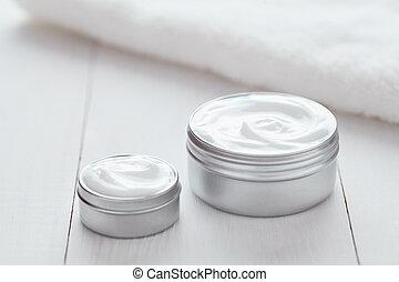 produit, organique, beauté, acné, cosmétique, lotion, blanc, nettoyage, crème hydratante, crème