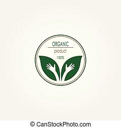 produit, organique, restaurant, nourriture, logo., logo