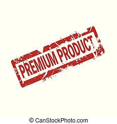 produit, prime, timbre, isolé, cachet, grunge, écusson, rouges, icône