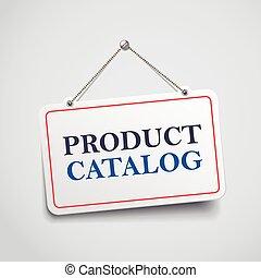 produit, signe, catalogue, pendre