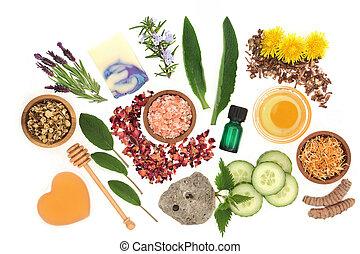 produits beauté, naturel, traitement, skincare