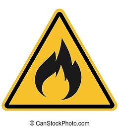 produits, signe, inflammable, illustration, vecteur, avertissement