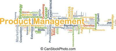 produkt, administration, bakgrund, begrepp