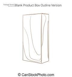 produkt, box., leer