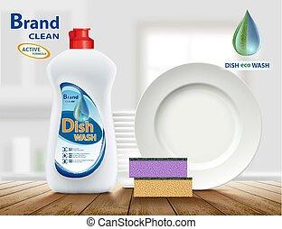 produkt, dishwashing flüssigkeit