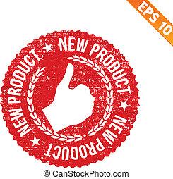produkt, eps10, briefmarke, -, abbildung, gummi, vektor, neu
