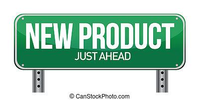 produkt, ilustracja, znak, projektować, nowy, droga