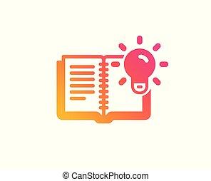 produkt, kenntnis, prozess, zeichen., vektor, icon., bildung