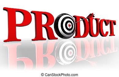 produkt, słowo, tarcza, czerwony