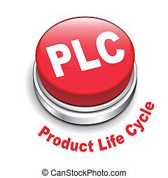 produkt, ), (, taste, leben, abbildung, plc, 3d, zyklus