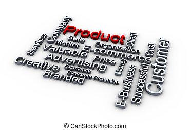 produkt, wörter, wolke