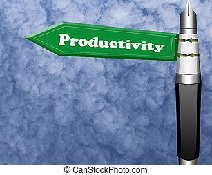 produktivität, straße zeichen