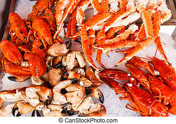 produkty morza, fish, bergen, targ