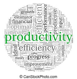 produtividade, conceito, em, tag, nuvem