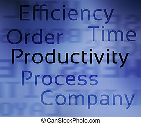 produtividade, etiquetas