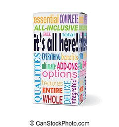 produto, é, caixa, palavras, aqui, tudo