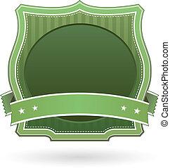 produto, alimento, etiqueta, verde, em branco, ou