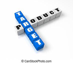 produto, alvo