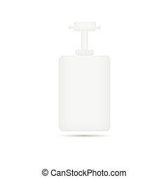 produto, beleza, pacote, cor, embalagem, branca, recipientes, creme
