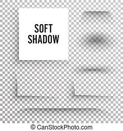 produto, checkered, square., liso, isolado, bordas, elemento, experiência., projeto fixo, vector., sob, sombra, macio, transparente, redondo