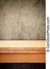 produto, colocação, madeira, topo, tabela, vazio