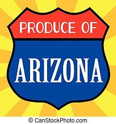 produto, escudo,  Arizona