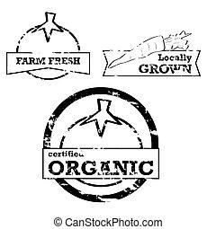 produto fresco, selos