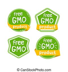 produto, gmo, isolado, livre, vetorial, logotipo, illustraion, ícone