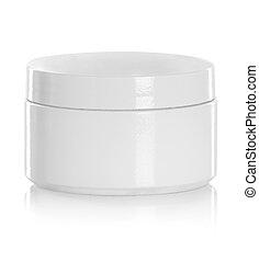 produto, jarro, cosmético, embalagem, em branco, ou