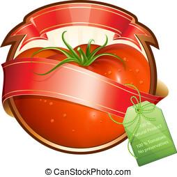 produto, (ketchup, sauce), etiqueta