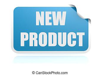 produto novo, azul, adesivo
