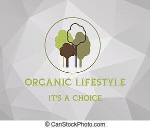 produto, orgânica, fresco, experiência., saudável, vindima, material, fazenda, poly, promocional, alimento, vetorial, baixo, label., cartaz, logotipo, imprimindo, design., retro