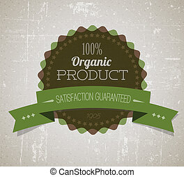 produto, orgânica, vindima, etiqueta, antigas, vetorial, retro, grunge, redondo