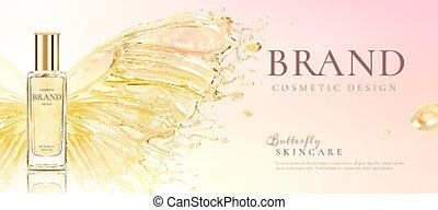 produto, skincare, borboleta, cartaz