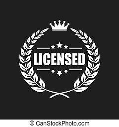 produto, vetorial, licenciado, ícone