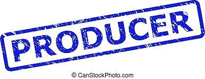 produtor, retângulo, corroido, arredondado, superfície, selo, quadro
